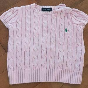 Ralph Lauren pink knitted shirt. Kid size 5